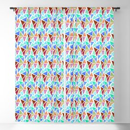 Multicolored triangular pattern Blackout Curtain