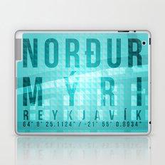 Nordurmyri Blue Laptop & iPad Skin