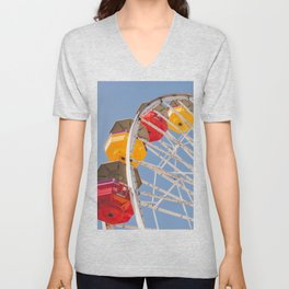 California Wheelin - Santa Monica Pier Unisex V-Neck