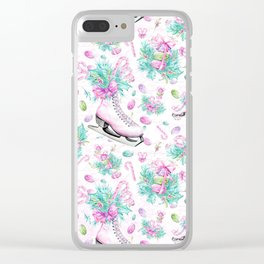 Figure Skating #11 Clear iPhone Case