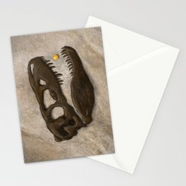 Tyrannosaurus Rex with Orange to scale Stationery Cards