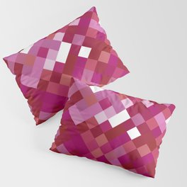 Lesbian Pride Pixelated Angled Squares Pillow Sham