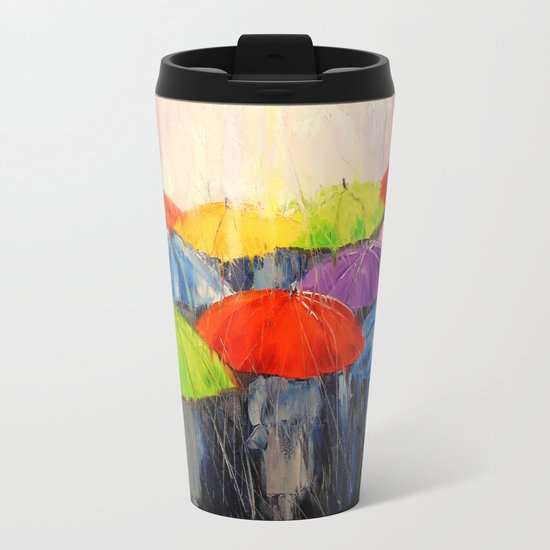 Morning rain Metal Travel Mug