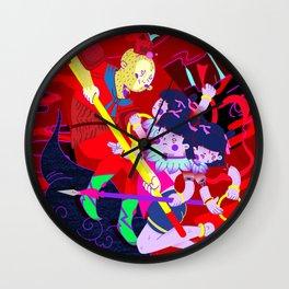 monkey king & nezha Wall Clock