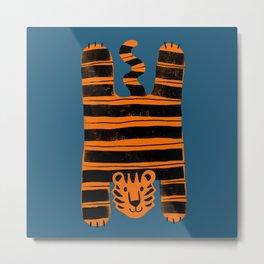 Tiger flatlay Metal Print