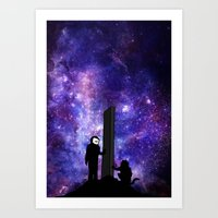 2001 a space odyssey Art Prints featuring 2001: A Space Odyssey  by Joshua S