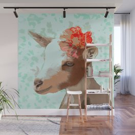 Flower Goat Wall Mural