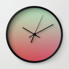 WARM WATERMELON - Minimal Plain Soft Mood Color Blend Prints Wall Clock