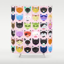 Love character cats Shower Curtain