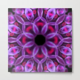 Violet Mandala for Healing Metal Print