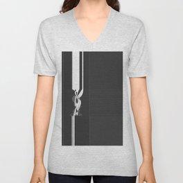 Modern Black and White Pattern Abstract Unisex V-Neck