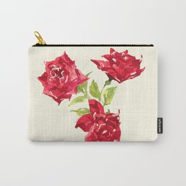 Three Red Roses Carry-All Pouch