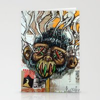 ape Stationery Cards featuring Ape Shrunkhead by Reboot