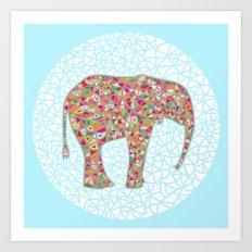 Elephant Circle #2 Art Print