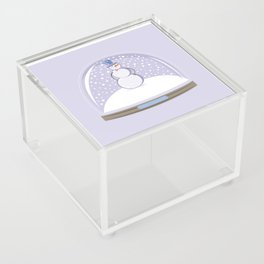 Snowman. Christmas Time. Acrylic Box