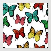 butterflies Canvas Prints featuring Butterflies by Julia Badeeva