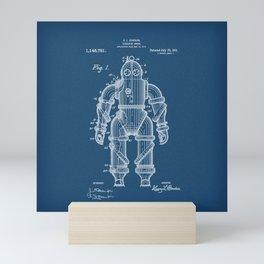 Submarine Armor Patent Blueprint 1915 Mini Art Print