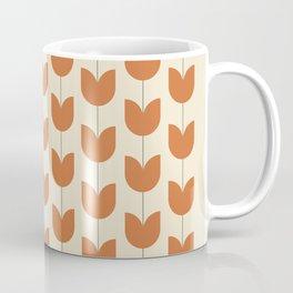 Red Tulip Pattern Coffee Mug