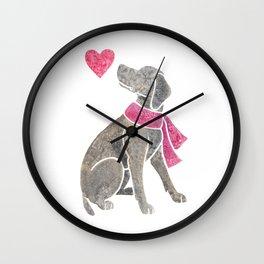 Watercolour Weimaraner Wall Clock