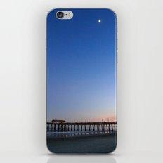 Moon over Tybee Island Pier iPhone & iPod Skin