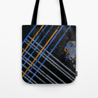 grid Tote Bags featuring Grid by Last Call