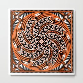 Wind Spirit (Orange) Metal Print