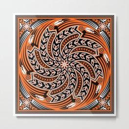 Wind Spirit (Orange) Metal Print