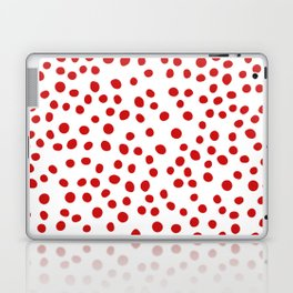 Red doodle dots Laptop & iPad Skin