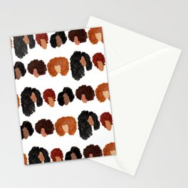 Natural Hair Girls Stationery Cards