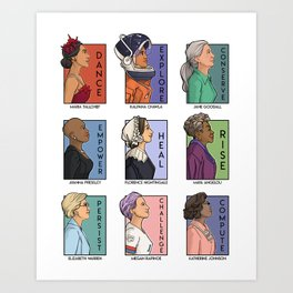 She Series - Real Women Collage Version 2 Art Print