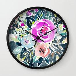 SNAKE IN THE GARDEN Wall Clock