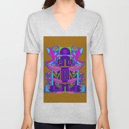 Temple of Flowers Unisex V-Neck