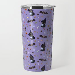 The Halloween Witch Kitten Travel Mug