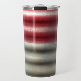 Industrial Wall | Red Grey Striped Wall | Contemporary Art Travel Mug