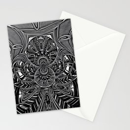 Subconscious Healing Frequency Black and White Edition Stationery Cards