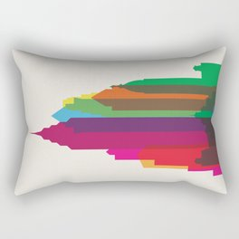 Shapes of Philadelphia accurate to scale Rectangular Pillow