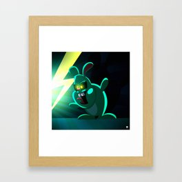 Evil Bunny Framed Art Print