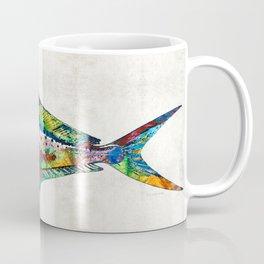 Colorful Dolphin Fish by Sharon Cummings Coffee Mug