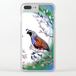 Quails and Serenity Clear iPhone Case