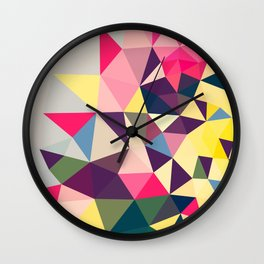 Creeping Tris Wall Clock