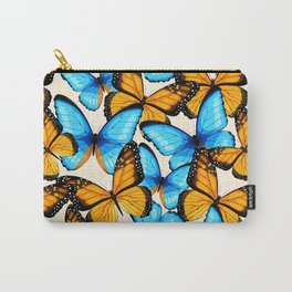 Blue And Yellow Viceroy Butterfly Pattern Carry-All Pouch