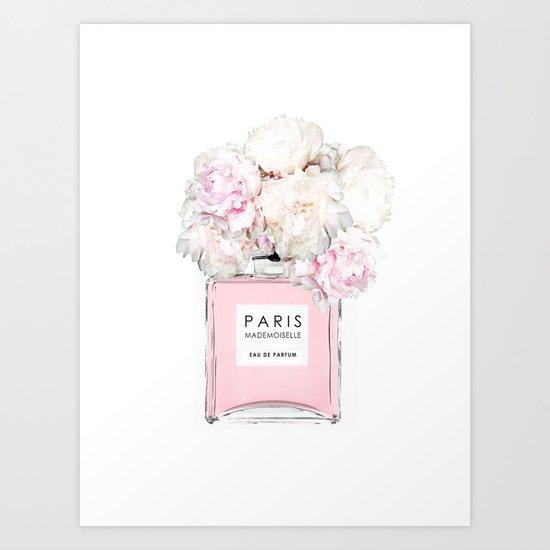 Flowers pink peony perfume fashion minimal art print by flowers pink peony perfume fashion minimal art print by juliasprints society6 mightylinksfo