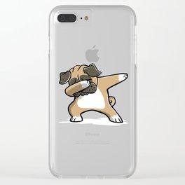 Funny Dabbing Pug Dog Dab Dance Clear iPhone Case