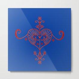 Voodoo Symbol Erzulie Metal Print