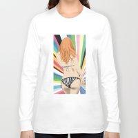 bikini Long Sleeve T-shirts featuring Bikini by Sil-la Lopez