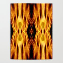 Flame Pattern Fire Astract Poster