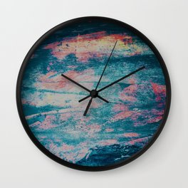 Faded blue and pink paint Wall Clock