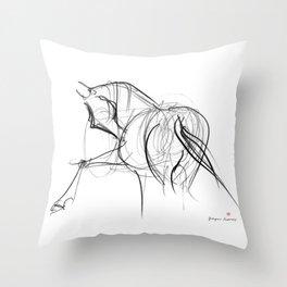 Horse (Ballet dancer) Throw Pillow