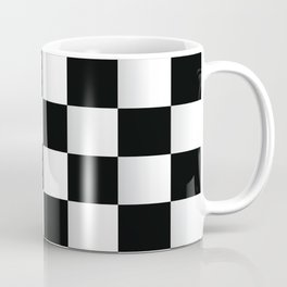 BLACK AND WHITE SQUARES Abstract Art Coffee Mug
