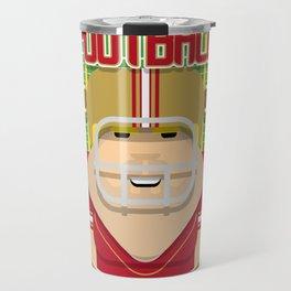 American Football Red and Gold - Enzone Puntfumbler - Sven version Travel Mug